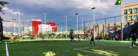 Quadra aberta para prática de Futebol Soçaite no Sesc Belenzinho
