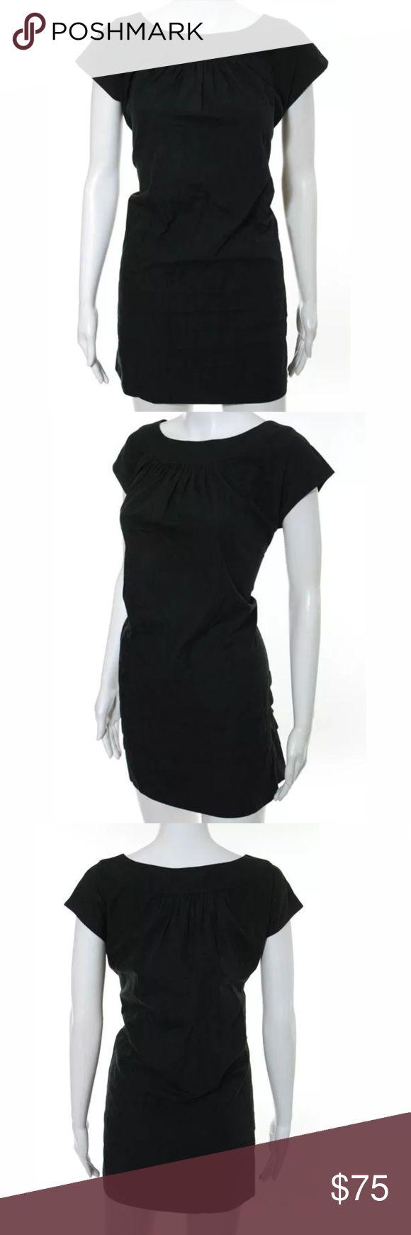 Sari Gueron black mini dress Sz 4 Cotton blend mini dress in black Sari Gueron Dresses Mini