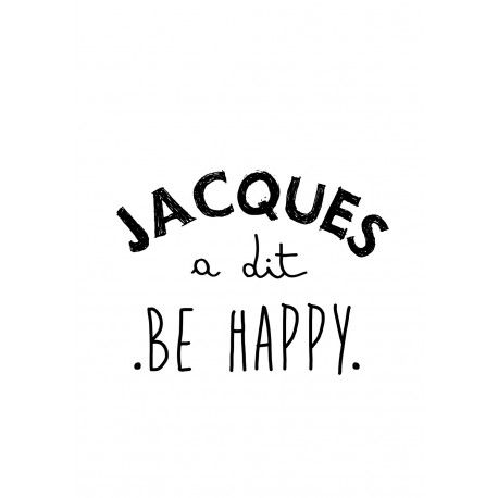 "Tee-shirt femme gris "" Jacques a dit, Be Happy"""