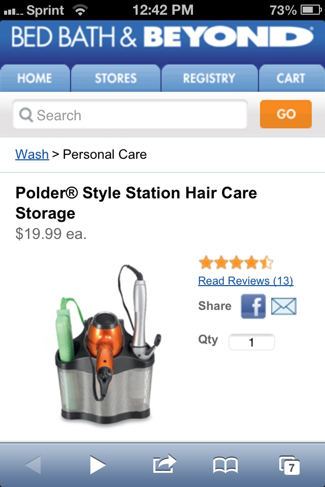 Bed Bath And Beyond Rosette Iron ~ Best images about curling iron storage ideas on pinterest