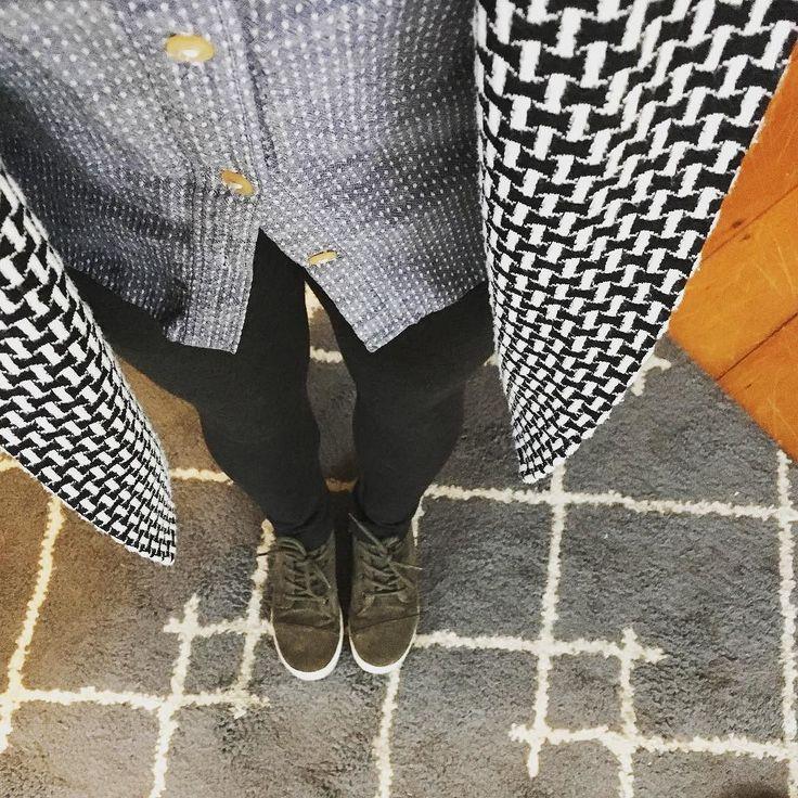 Virginia leggings by shedabbles // #mmmay16 day 3: my new double knit wool #virginialeggings my favorite #archerbuttonup and my #oslocardigan #grainlinestudio #seamworkmag #handmadewardrobe