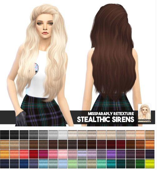 Los Sims 4 ~ Peinado suelto con una pequeña parte para atrás