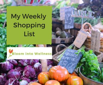 My Weekly Shopping List- make sure your kitchen is well stocked with a variety of nutritious and wholesome foods with this FREE shopping list planner.