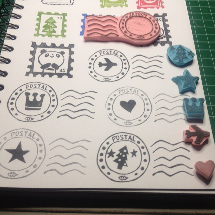 Postmark stamp handcarved by Natàlia Trias. A lot of posible uses!