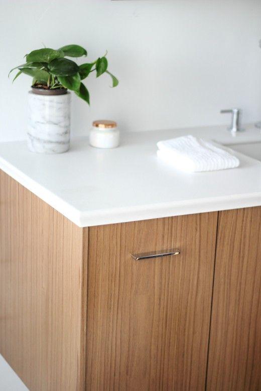 Kohler Jute Vanity With Horizontal Pulls And The Kohler Impressions Counter Sink Combo Looks