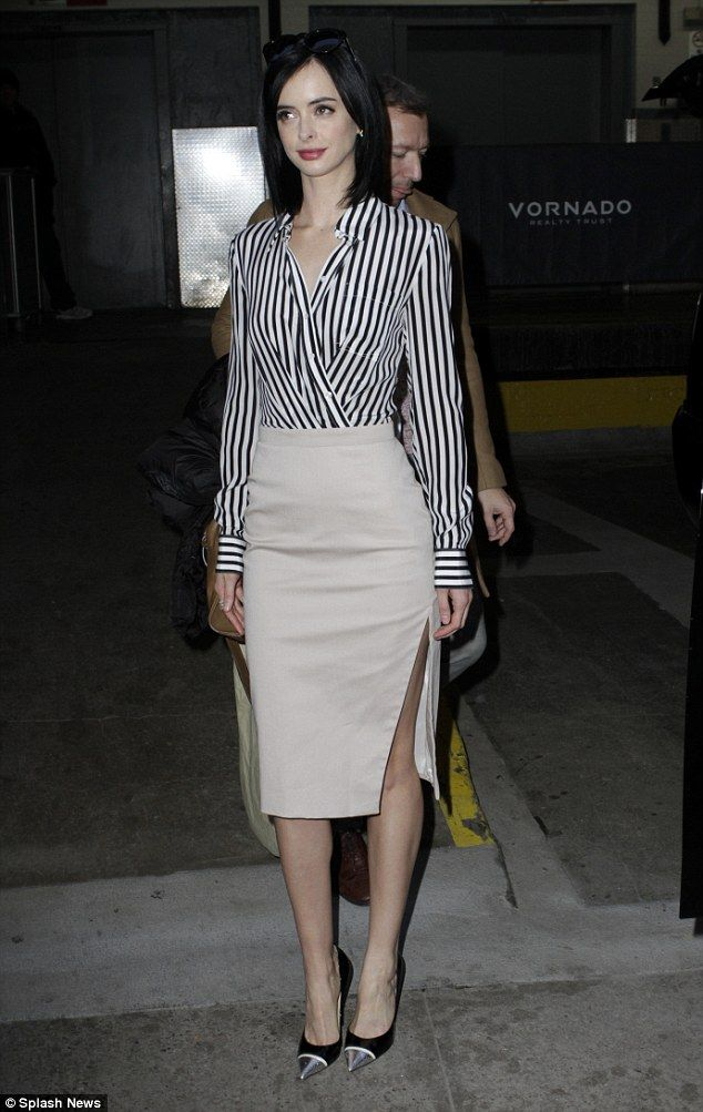 Making the rounds: Krysten Ritter looked like she was all ...