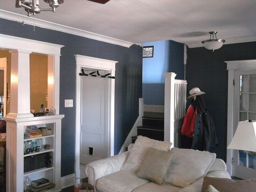 accent wall color for slate blue | Glidden Blue Grey Slate ...