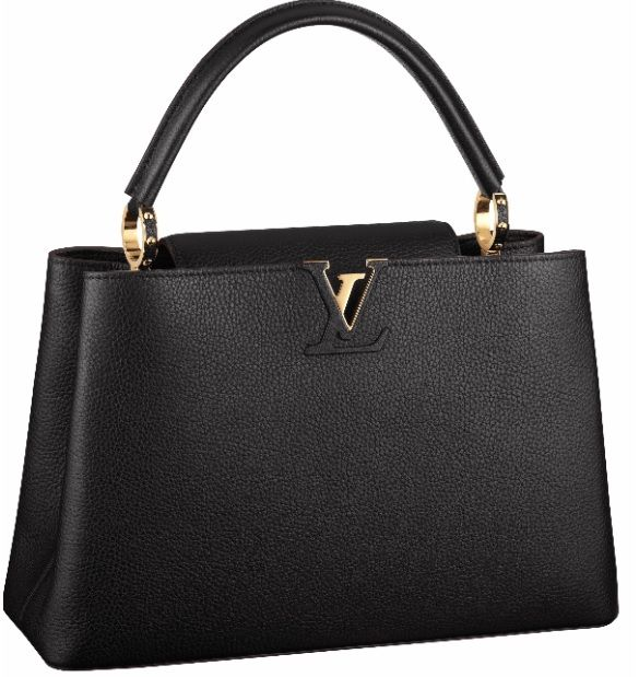 Angelina Jolie Louis Vuitton Capucines Taurillon leather bag