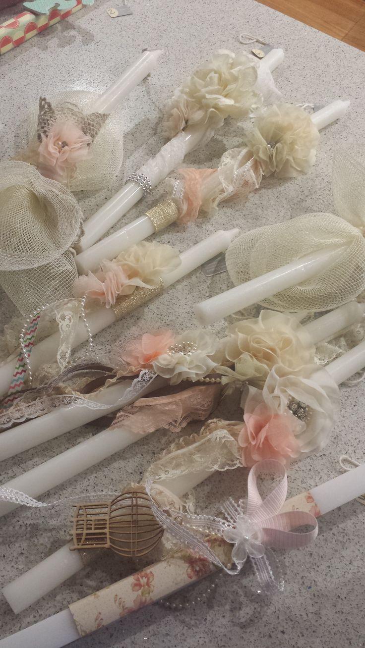 Orthodox Easter/Palm Sunday Candles {Lambathes} 2014