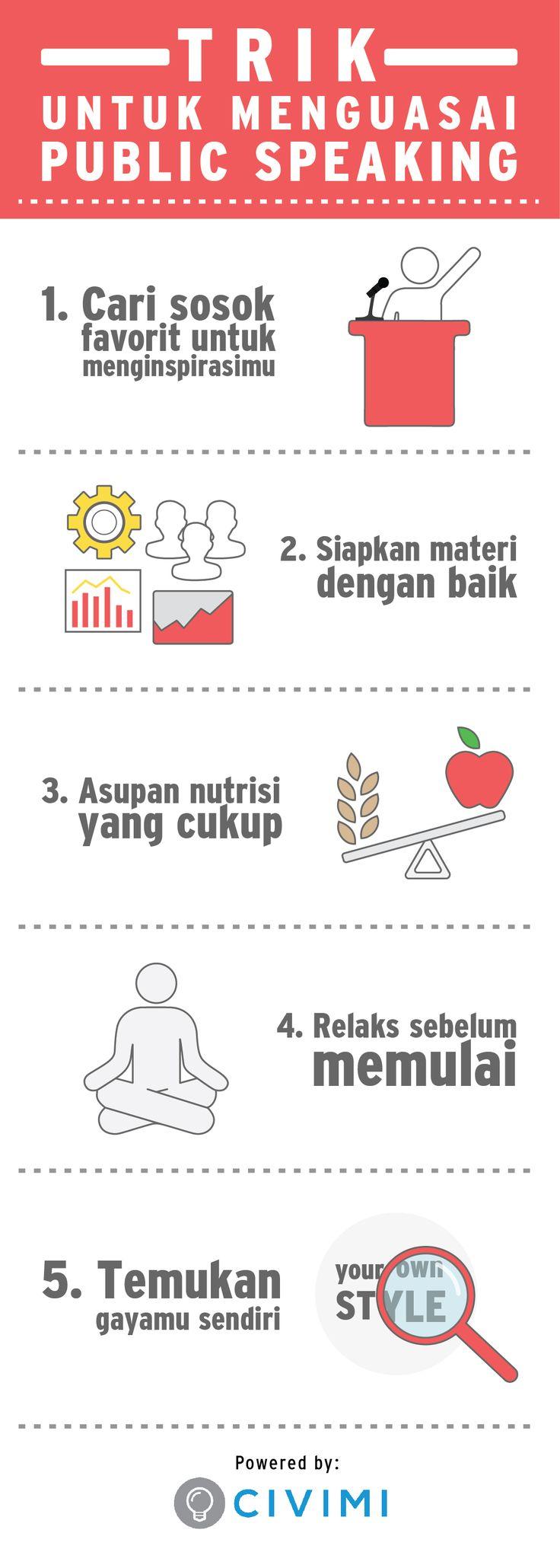 5 Trik untuk Menguasai Public Speaking (Infographic)