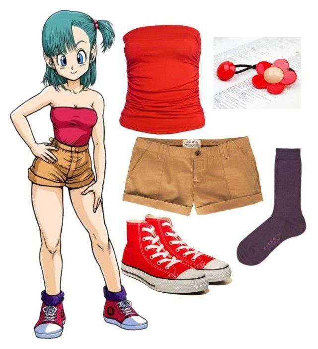 """""""Bulma 1"""" by catloverd ❤ liked on Polyvore featuring Jack Wills, CO, Converse, Falke, bulma and dbz"""