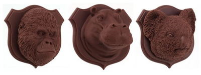 The Art of Chocolate. Endangered Species Chocolate Wall Trophies: