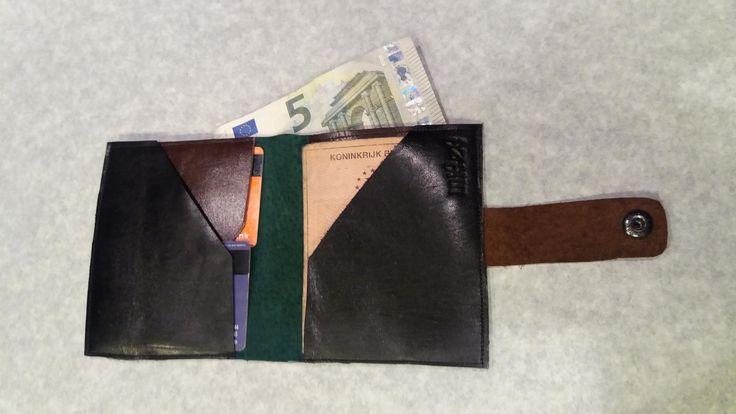 Portemonnee voor mannen. Handgemaakt vervaardigd uit leder en uniek!