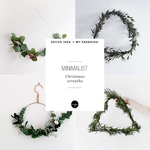10 extraordinary minimalist wreath ideas | My Paradissi