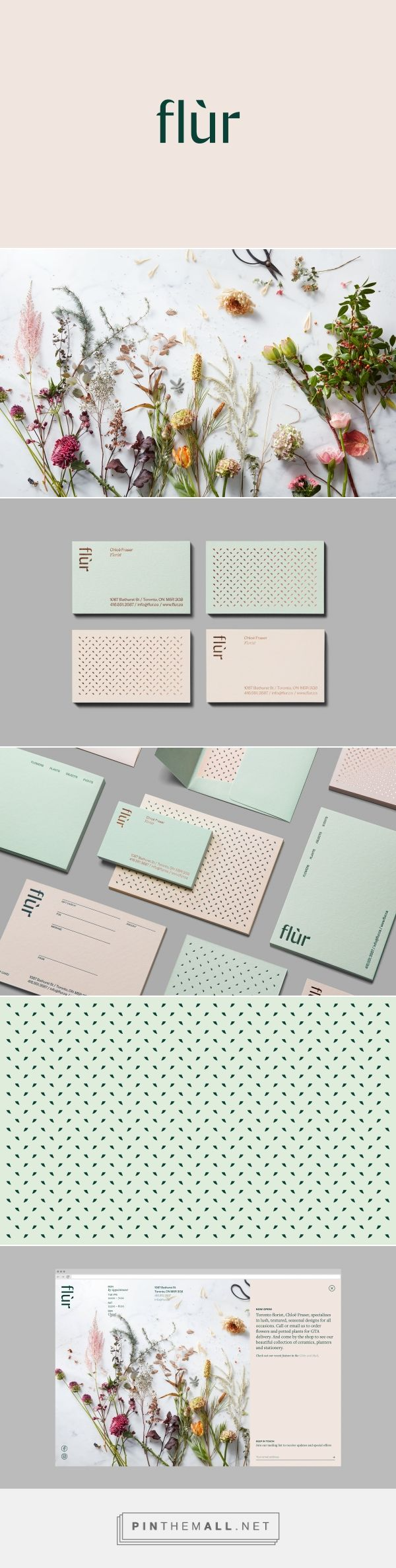 Flùr Boutique Flower Shop Branding by Made by Tung | Fivestar Branding Agency – Design and Branding Agency & Curated Inspiration Gallery #florist #floristbranding #branding #design #designinspiration