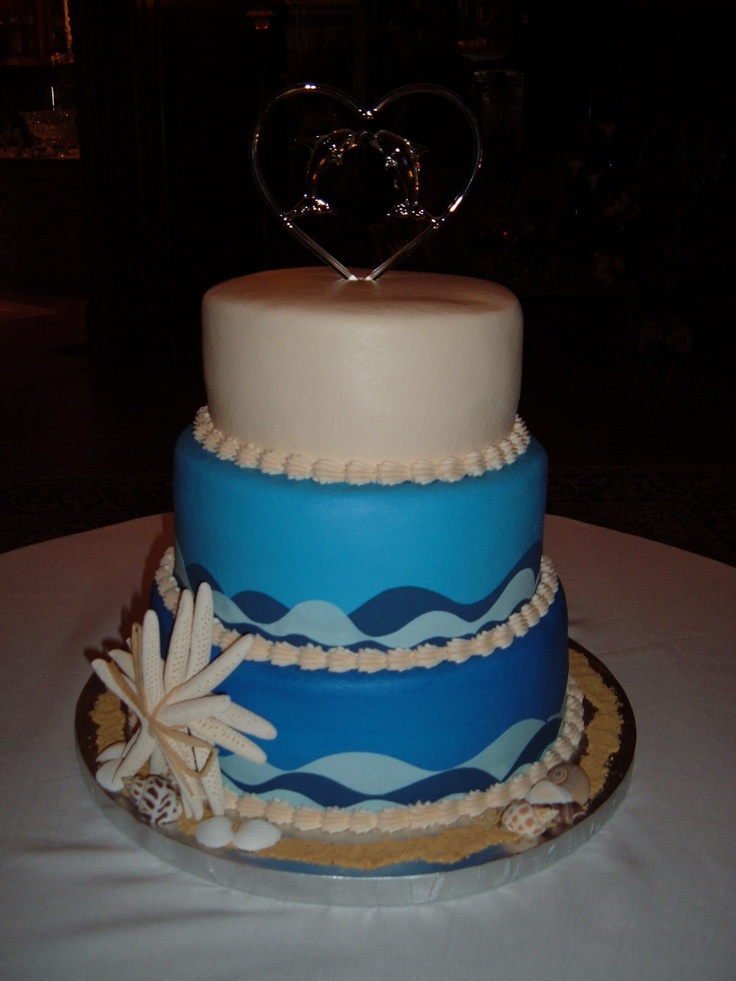 wedding cakes made with buttercream frosting dolphin amp theme wedding cake cake is iced in 24965