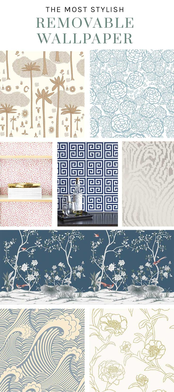 Stylish removable wallpaper designs on Thou Swell @thouswellblog