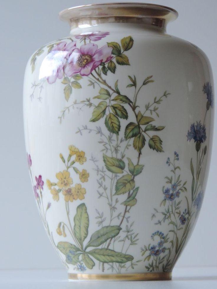 KRAUTHEIM WIESENGRUND UND BERGESHÖHN VASE HÖHE 25 CM in Antiquitäten & Kunst, Porzellan & Keramik, Porzellan | eBay