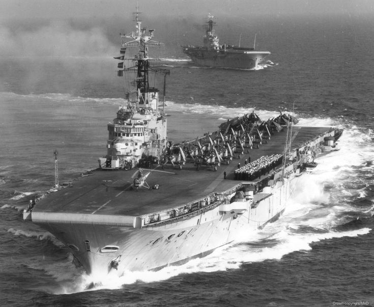 HMS Centaur (R06) was the first of the four Centaur-class light fleet carriers of the British Royal Navy. Commissioned: Sept, 1, 1953. #9A