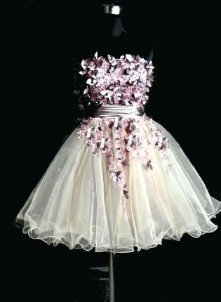 #flower #cocktail #dress