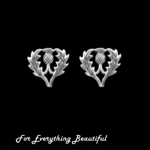 For Everything Genealogy - Thistle Scotland Themed Medium Sterling Silver Stud Earrings, $40.00 (http://foreverythinggenealogy.mybigcommerce.com/thistle-scotland-themed-medium-sterling-silver-stud-earrings/)