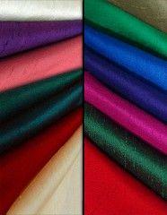 Fabric Dupioni Silk Color Examples