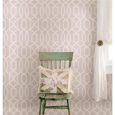 Fashion a sweet space for Valentine's Day with this charming peel and stick wallpaper that's so easy to install!