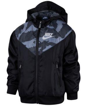 Nike Hooded Windrunner Jacket, Toddler & Little Boys (2T-7) - Black 3T