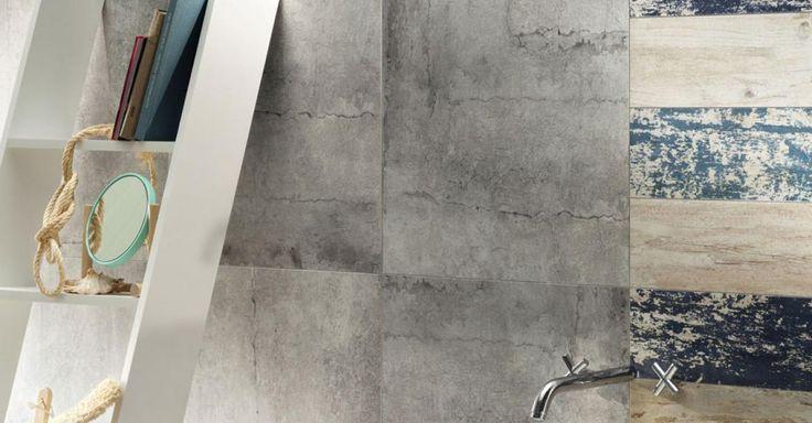 Cement Worn | Tubądzin #interior #decor #home #bathroom #tubadzin