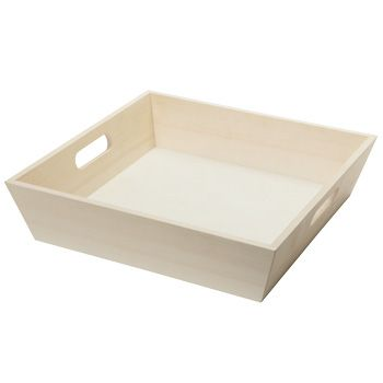 ART TRAYS: Small wooden tray £37 for 10 - we could paint them?
