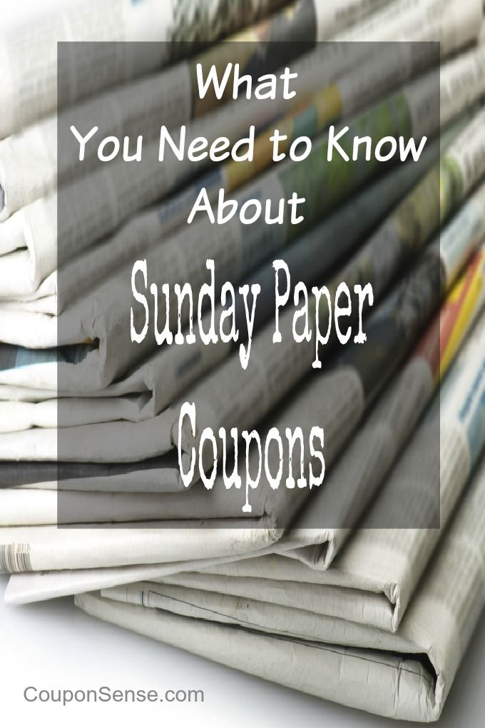 Where to get cheap sunday papers coupons