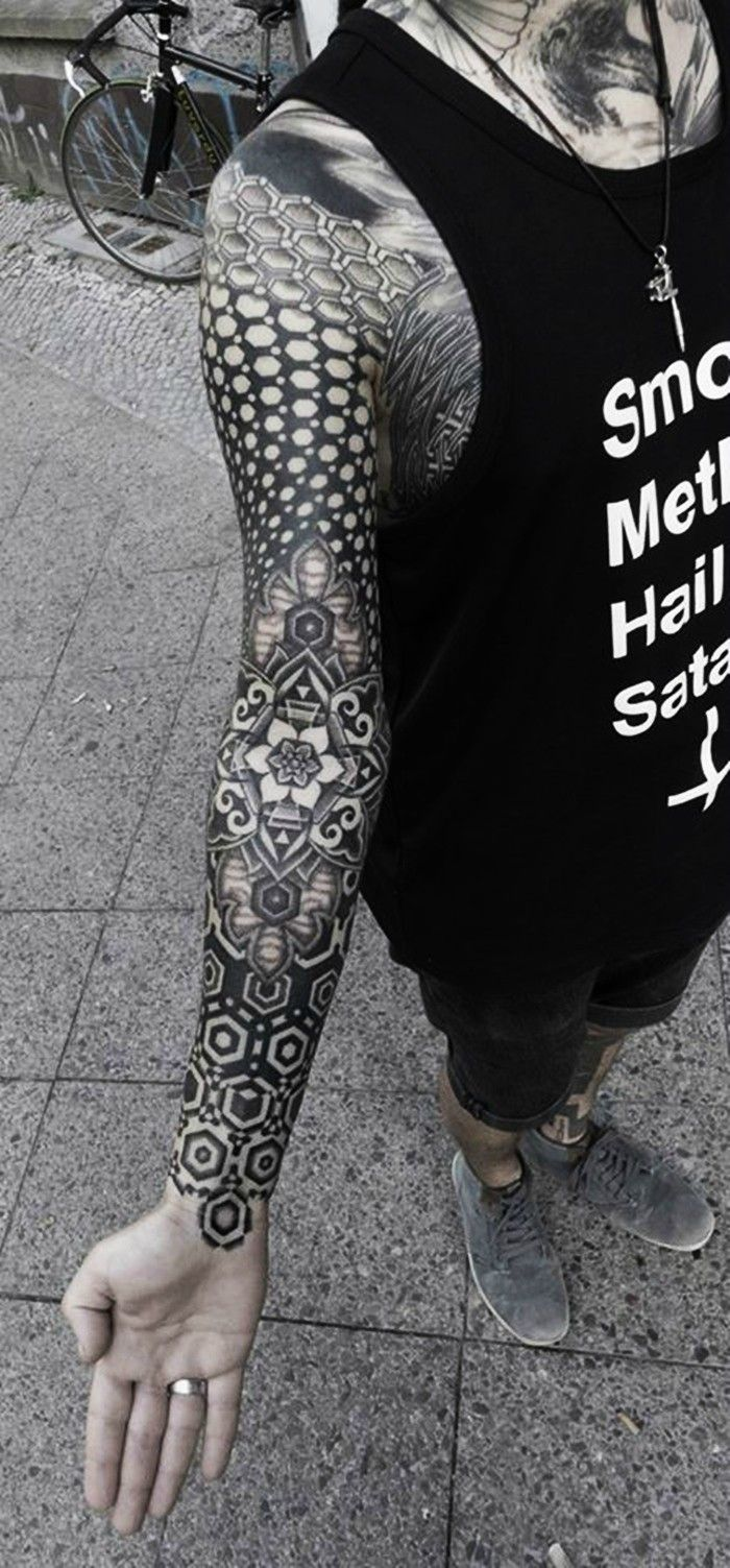 Striking Geometric Stipple Tattoos by Kenji Alucky - Imgur