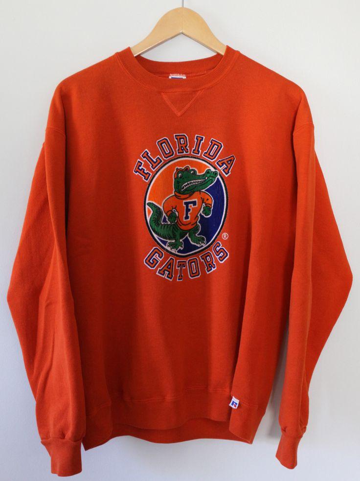 Vintage 1980s University Of Florida Gators Russell Athletic Crewneck Sweatshirt SZ XL
