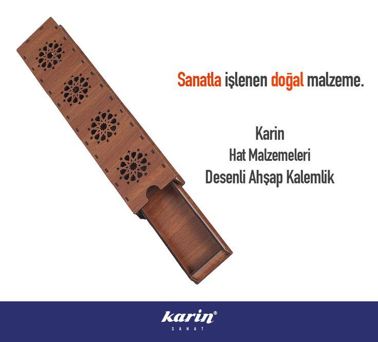 Desenli Ahşap Kalemlik karinsanat.com  #HatMalzemeleri #Kalemlik #KarinSanatMalzemeleri #Hat #Kaligrafi #Meşk #art