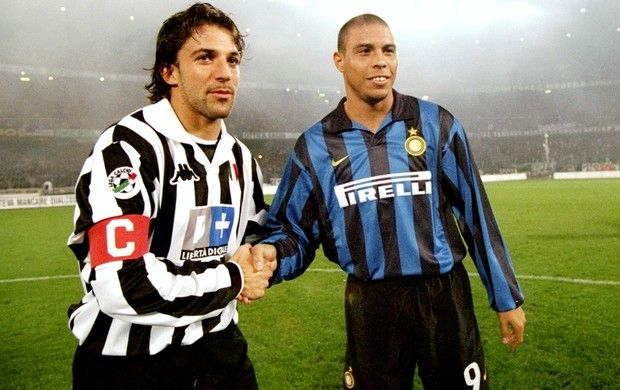 Del Piero/Ronaldo lors du derby Juve-Inter