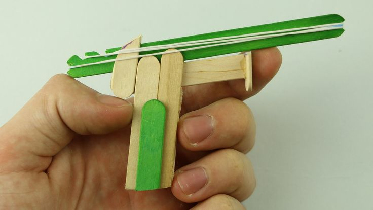 Learn how to make a rubber band gun using popsicle sticks. Facebook: https://www.facebook.com/Radu-Caraus-1542396909376084/?ref=hl Instagram: https://www.ins...