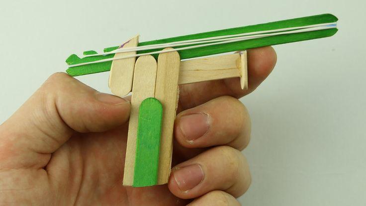 Learn how to make a rubber band gun using popsicle sticks. Facebook: https://www.facebook.com/Radu-Caraus-1542396909376084/?ref=hl Instagram: https://www.ins...