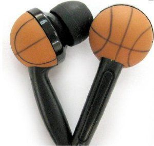 mackayla_paige's save of WCI Kids Sports Phones - Cute Pair Of Quality Stereo Earphones With Inset Basketball Design - Connect To iPod, iPhone, Droid, Blackberry, MP3 Player And All 3.5mm Audio Devices - For The Basketball Loving Child on Wanelo