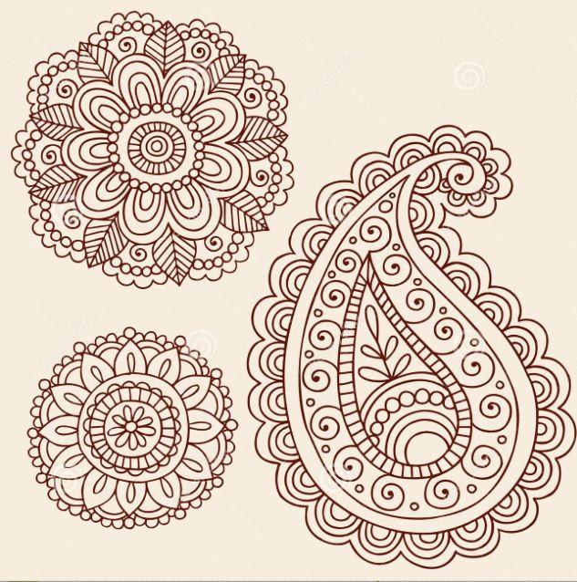 Beautiful pattern paisley or henna.