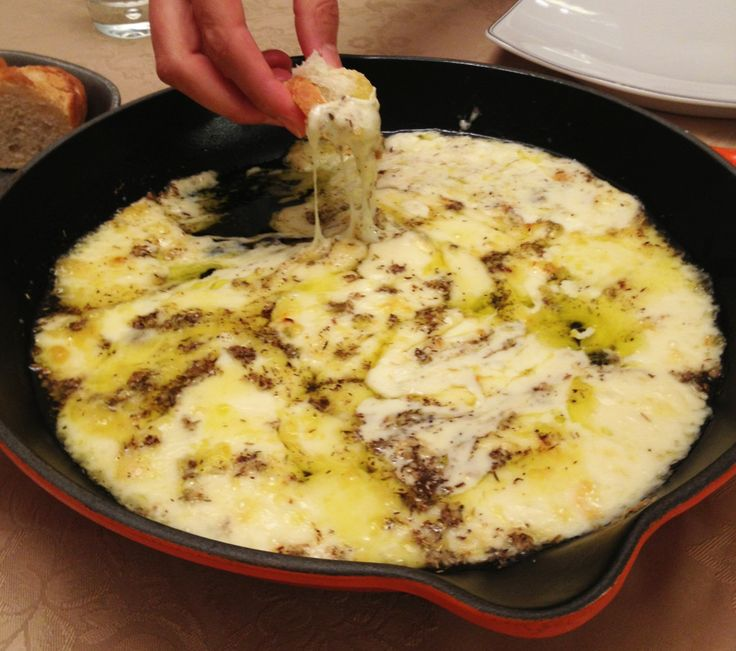 Baked Cheese Fondue - Wishes and Dishes