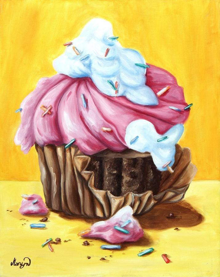 Cupcake Painting - Cupcake Fine Art Print
