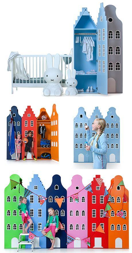 Helt vidunderlige skabe til børneværelset fra Kast van een Huis , BarneGuiden.DK