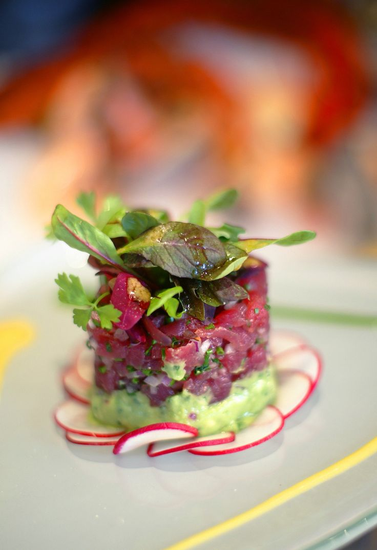 Big-eye tuna tartare