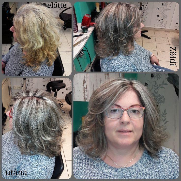 #zöldiszilvia #munkám #mywork #hajvágás #haircut #hajfestés #haircolor #melír  #matrix #matrixhair #matrixcolor