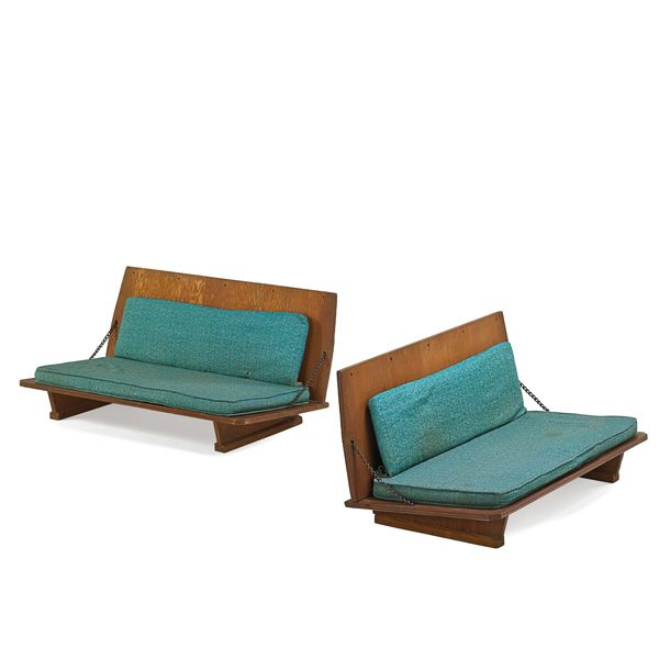 FRANK LLOYD WRIGHT (1867   1959) Pair Of Folding Benches, Madison, WI