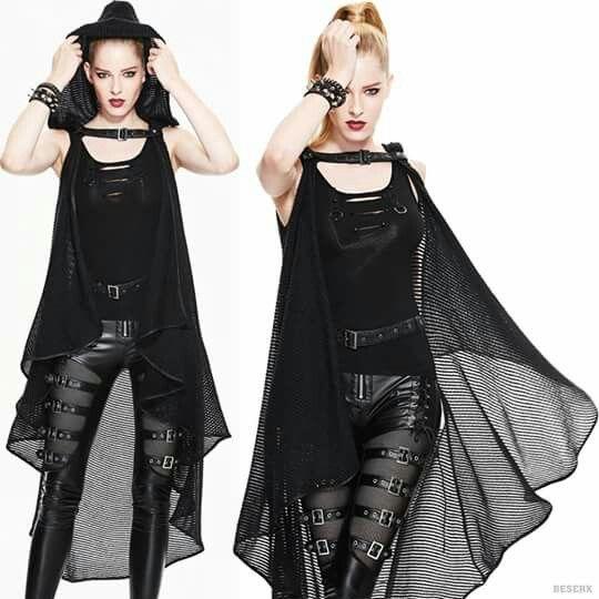 The gorgeous Dryad Knit Cape by Devil Fashion