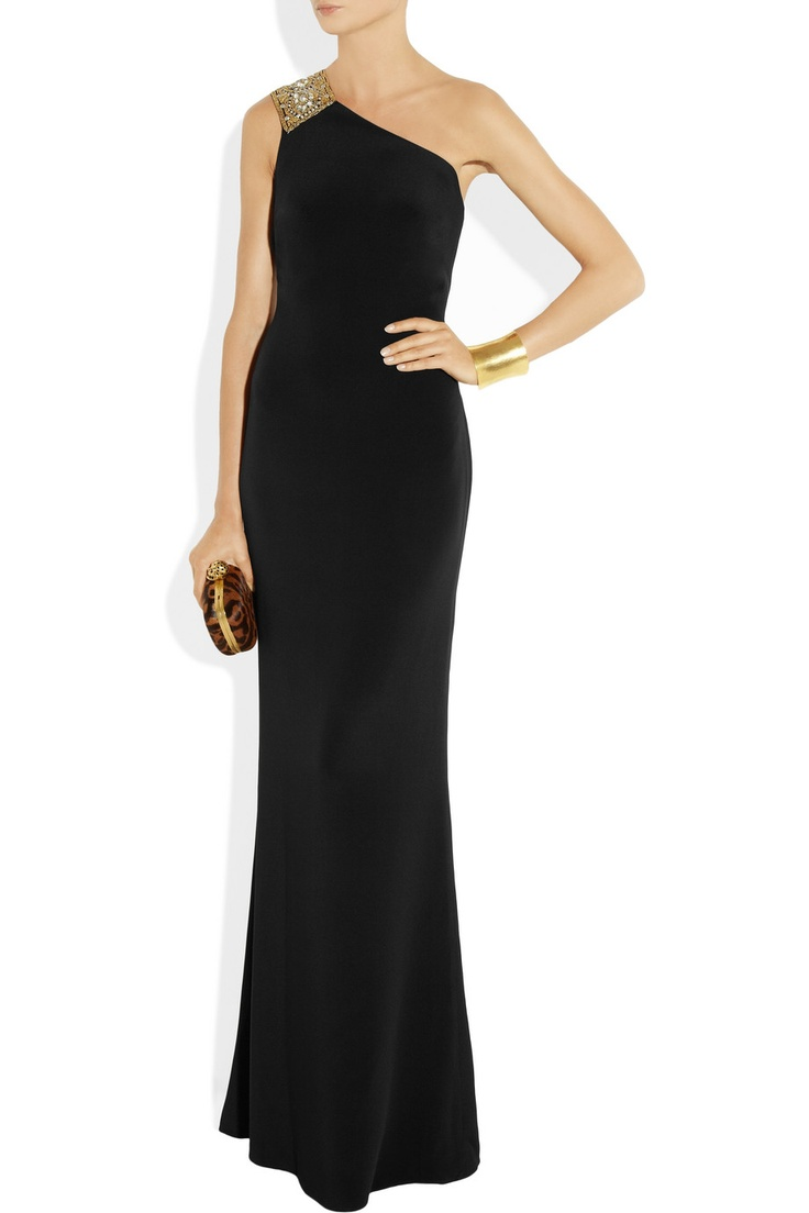 Notte by Marchesa | Embellished silk-crepe gown | NET-A-PORTER.COM