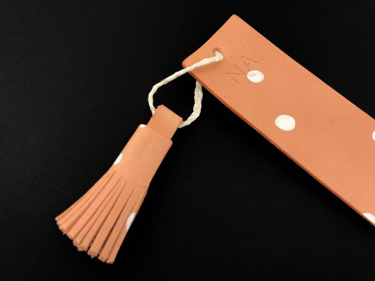 Personalized Leather Bookmark Personalised Bookmark Pink Polka Dot Leather Bookmark by LINThomeware on Etsy