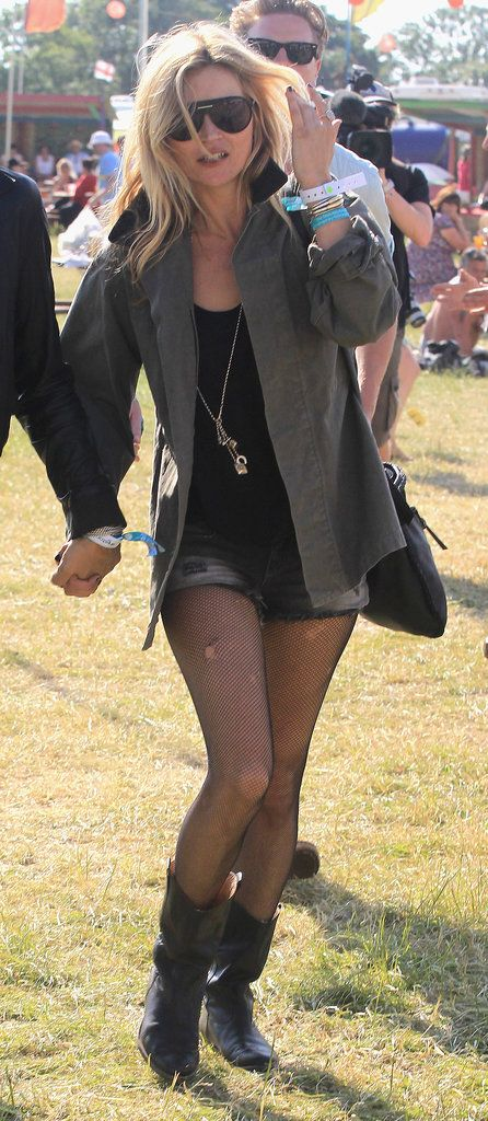 Kate Moss, Patron Saint of Glastonbury Style: For us, Kate Moss and Glastonbury go together like nobody's business — and with this year's festival starting next week, we've got her on the brain.