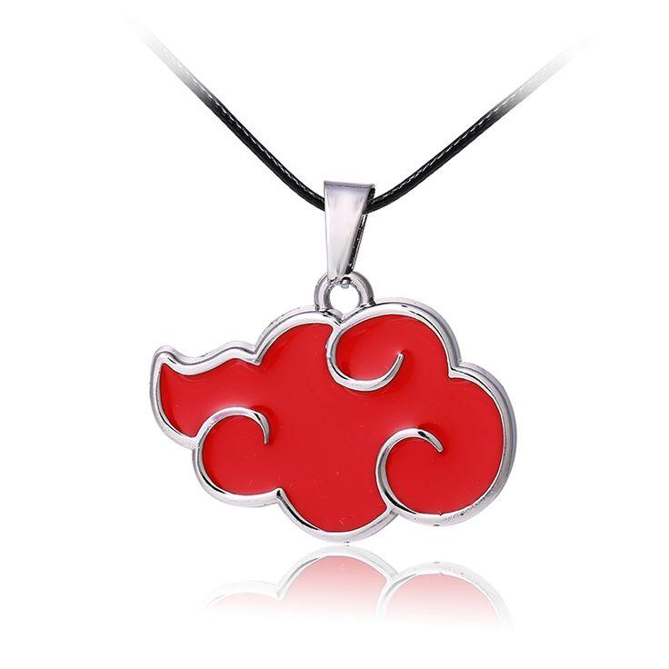 Фильм ювелирные изделия горячая Аниме НАРУТО серии форма Красное облако ожерелье Сплава ювелирные изделия красный Косплей Наруто Акацуки кулон